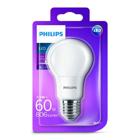 Philips LED 7,5W/60W E27 4000K