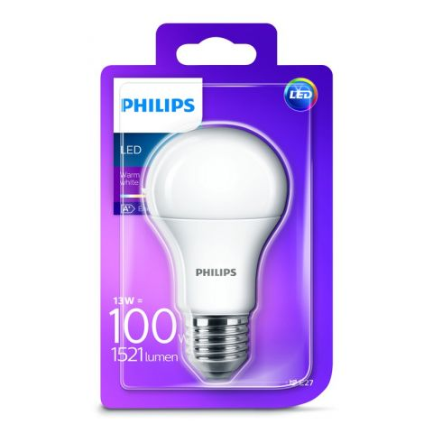 PHILIPS LED E27 13W/100W WW