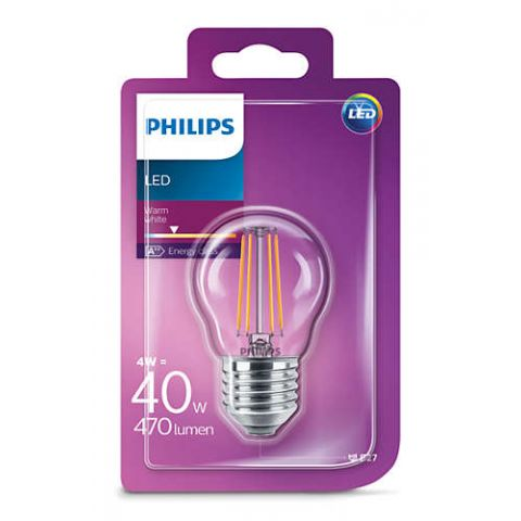 PHILIPS LED E27 P45 WW 4W/40W
