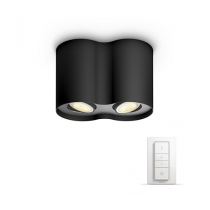 PHILIPS PILLAR HUE BLACK + DIMMER SWITCH 56332/30/P7