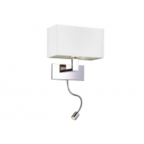 AZZARDO MARTENS WALL LED AZ1526 (white/chrome)