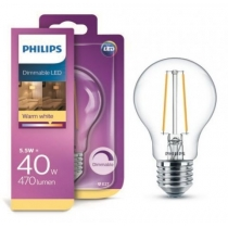 PHILIPS LED ŽIAROVKA E27 A60 FILAMENT DIMMABLE 4,5W=40W