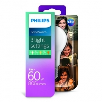 PHILIPS LED ŽIAROVKA E27 8W=60W 3 COLOURS