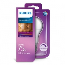PHILIPS LED ŽIAROVKA E27 11,5W=75W WW DIMMABLE